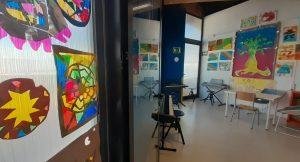 Aula en el interior del colegio
